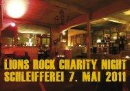 Lions Rock Charity Night für das Projekt AMIE - KMU-Channel ...