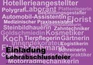 Lehrabschlussfeier Gewerbe, Industrie und Dienstleistungen am ...
