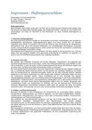 Impressum - Haftungsausschluss - Dr. med. Thomas J. Henning