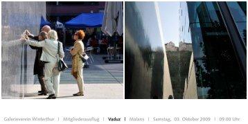 Vaduz | Malans - Kunstmuseum Winterthur