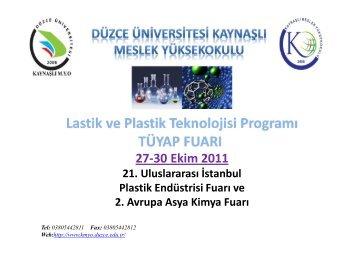 13. Tüyap Fuarı-2011 - Kaynaşlı MYO - Düzce Üniversitesi