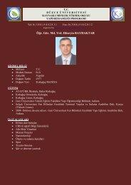 Öğr. Gör. Hüseyin BAYRAKTAR - kaynaşli myo - Düzce Üniversitesi