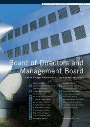 Report of the Board of Directors - Kuehne + Nagel