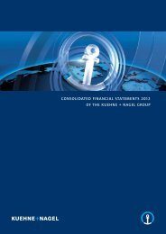 consolidated financial statements 2012 of the kuehne + nagel group
