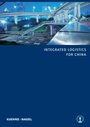 Integrated Logistics for China Brochure 2012 EN - Kuehne + Nagel