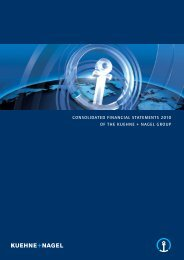 Consolidated Financial Statements 2010 - Kuehne + Nagel
