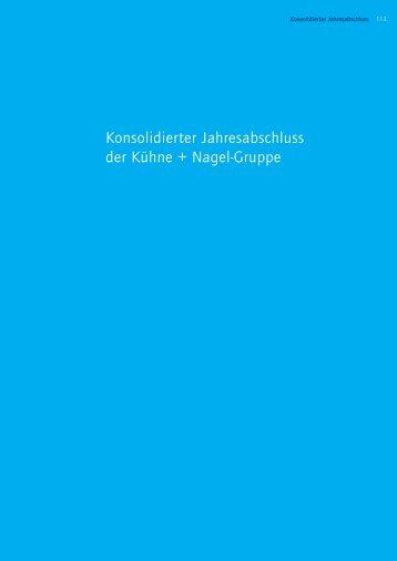 Konsolidierter Jahresabschluss der Kühne + ... - Kuehne + Nagel
