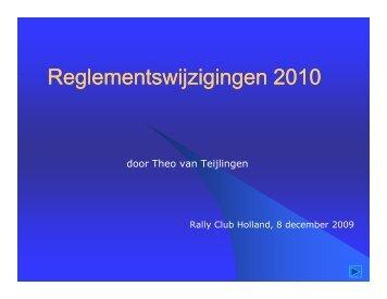 Reglementswijzigingen 2010 - Knaf