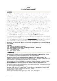 YTCC Sportief Reglement 2010 - Knaf