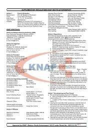 SUPPLEMENTARY REGULATIONS KNAF SECTIE AUTORENSPORT