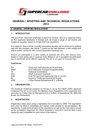 general / sporting and technical regulations 2012 - Knaf
