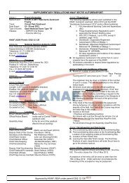 Approved by KNAF / BSA under permit 0302.12.136 ...