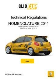 Technical R NOMENCLA Regulations ATURE 2011 - Knaf