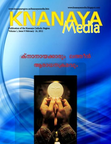 2012 February 16 - Knanaya Catholic Region