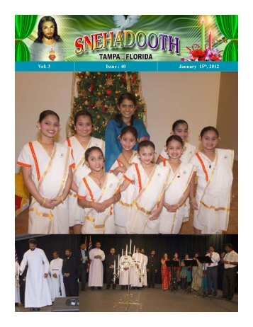 2012 January 15 Edition - Knanaya Catholic Region
