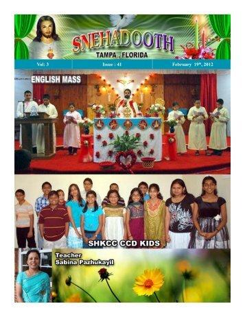2012 February 19 - Knanaya Catholic Region