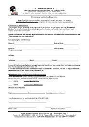 Membership Application - Düsseldorf Panther