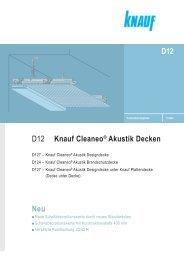 Neu D12 D12 Knauf Cleaneo® Akustik Decken - Knauf FormBar