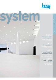 Knauf system | Magazin für Trockenbau N° 80 - Knauf Österreich