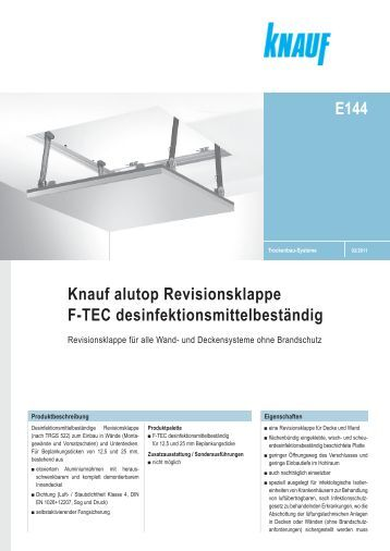 knauf alutop revisionsklappe revo lochplatte 12 5 e112c. Black Bedroom Furniture Sets. Home Design Ideas