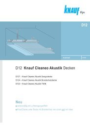 D12 Knauf Cleaneo Akustik Decken Neu D12