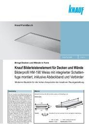 Knauf Bilderleistenelement für Decken und Wände ... - Knauf FormBar
