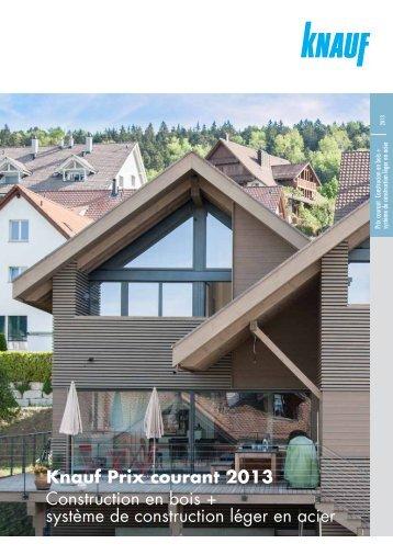 Liste de prix Construction en bois + système de ... - Knauf AG