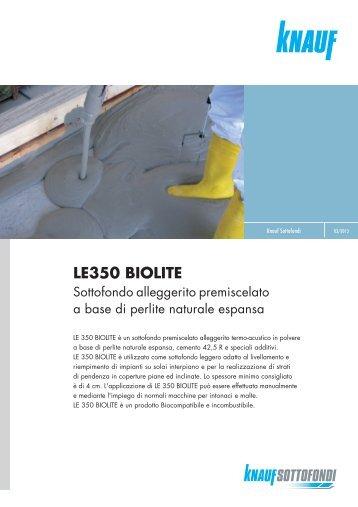 Scheda tecnica Massetto LE350 BIOLITE - Knauf