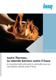 Depliant Lastre Thermax - Knauf