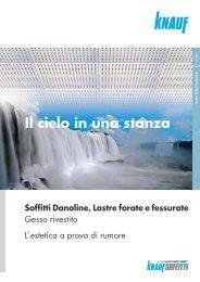 Brochure Soffitti Danoline - Lastre Forate e Fessurate - Knauf