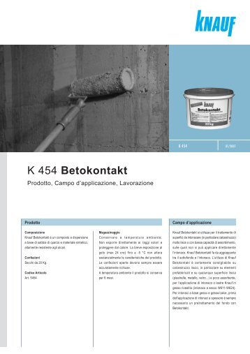 K 454 Betokontakt - Knauf