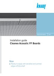 Installation guide Cleaneo Acoustic FF Boards - Knauf