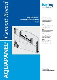 AQUAPANEL® Cement Board Indoor - Knauf