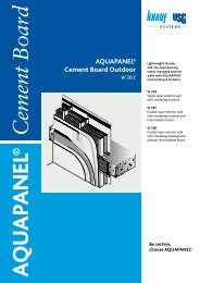 AQUAPANEL® Cement Board Outdoor - Knauf