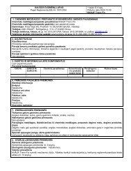 Trenn Fix - saugos duomenų lapas - Knauf