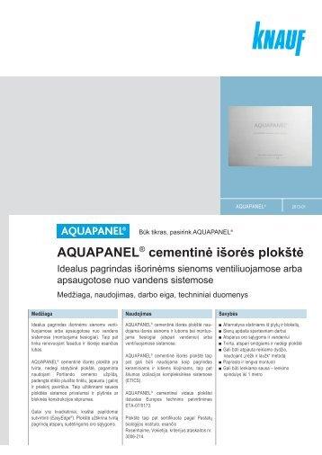 Aquapanel Cement Board Floor Cementine Grind Plok T Knauf
