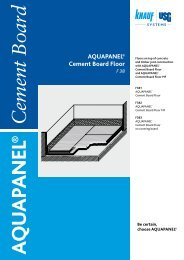 AQUAPANEL® Cement Board Floor - Knauf