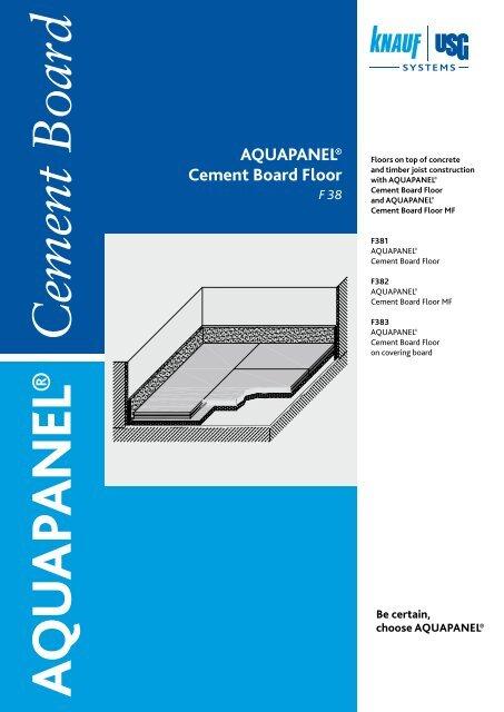 Aquapanel Cement Board Floor Knauf