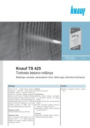 TS 425 - tech. duomenys ir instrukcija (PDF / 695 KB) - Knauf