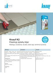 Knauf K2 plytelių klijų tech. instrukcijos (PDF / 561 KB)