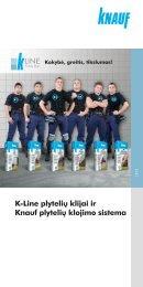 K Line plytelių klijų bukletas - Knauf