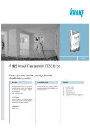 FE 50 Largo - tech. duomenys ir instrukcija (PDF / 64 KB) - Knauf