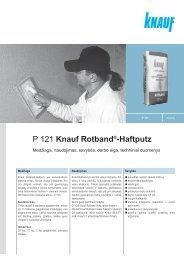 Rotband - tech. duomenys ir instrukcija (PDF / 377 KB) - Knauf