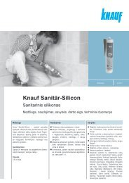 Silicon Sanitär - tech. duomenys ir instrukcija (PDF / 221 KB) - Knauf