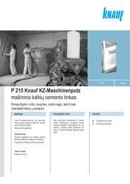 KZ-Maschinenputz - Knauf