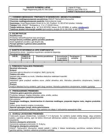 Flachendicht Bitumenfrei - saugos duomenų lapas 145 KB