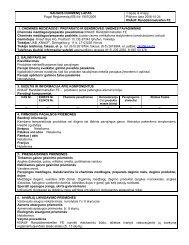 SAUGOS DUOMENŲ LAPAS Pagal Reglamentą (EB) Nr ... - Knauf