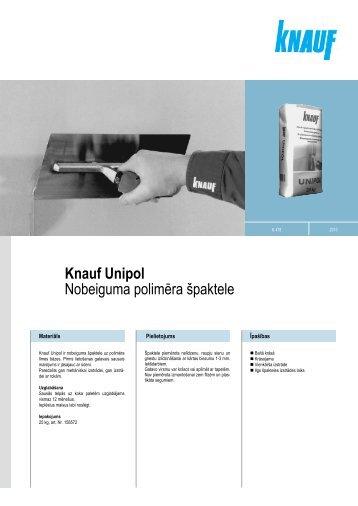 Knauf Unipol Nobeiguma polimīra špaktele
