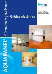 Aquapanel Floor, cementa plāksne grīdai, buklets (PDF ... - Knauf