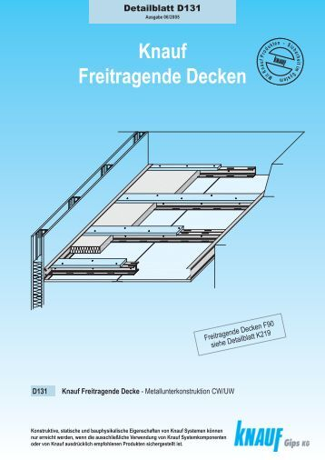 k219 knauf freitragende fireboard decken a1 knauf gips kg. Black Bedroom Furniture Sets. Home Design Ideas